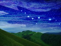 космос моря рифов ландшафта голубое небо стоковые изображения