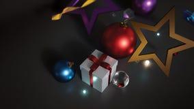 Космос орнамента рождества пустой для текста на темной предпосылке иллюстрация штока