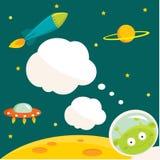 космос партии приглашения Стоковые Изображения RF