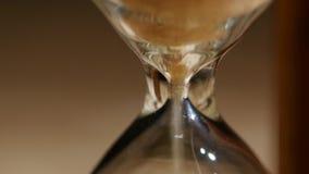 космос песка hourglass имеющегося экземпляра пропуская конец вверх видеоматериал