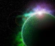 космос планеты предпосылки зеленый Стоковое фото RF