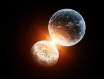 космос поцелуя Стоковые Фото