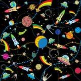 космос предпосылки черный Стоковые Изображения