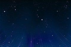космос предпосылки шестиугольный Стоковое Фото