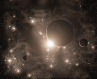 космос предпосылки Стоковые Изображения RF