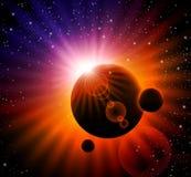 космос предпосылки Стоковое Изображение
