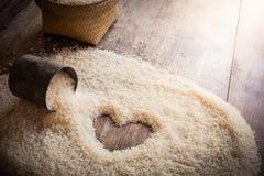 Космос предпосылки риса в середине сердца Стоковая Фотография