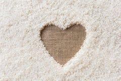 Космос предпосылки риса в середине сердца Стоковое Изображение RF