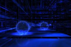 космос сини 3d Стоковые Фотографии RF