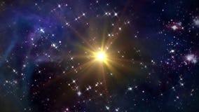 Космос с желтой звездой бесплатная иллюстрация