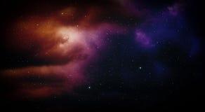 Космос с межзвёздным облаком Стоковая Фотография RF