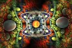 Космос с нерезкостями Стоковые Изображения
