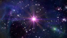Космос с розовым крестом звезды иллюстрация штока