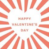 Космос формы сердца дня валентинки белый с предпосылкой sunburst Стоковое фото RF