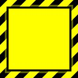 Космос экземпляра предпосылки шаблона рамки нашивки предупредительного знака желтый черный, рамка знамени striped тент желтый, ра иллюстрация штока