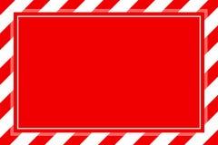 Космос экземпляра предпосылки шаблона рамки нашивки предупредительного знака красный белый, рамка Красного знамени striped тент,  иллюстрация вектора