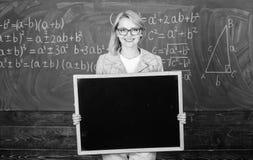 Космос экземпляра рекламы пробела классн классного владением учителя Информация для входящих студентов по обмену Школа шоу учител стоковое изображение