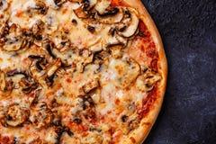 Космос экземпляра пиццы близкий поднимающий вверх Стоковое Изображение