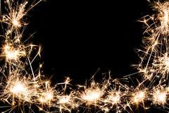 Космос экземпляра предпосылки рамки фейерверка бенгальского огня Стоковые Фото