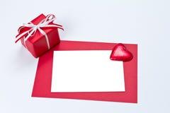 Космос экземпляра сердца карточки подарка Стоковая Фотография