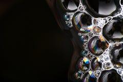 Космос экземпляра структуры макроса пузырей мыла абстрактный Стоковое Изображение
