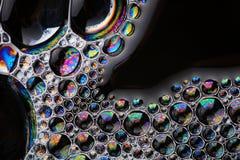 Космос экземпляра структуры макроса пузырей мыла абстрактный Стоковые Изображения