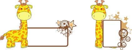 Космос экземпляра шаржа плюша жирафа милый Стоковые Изображения RF