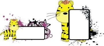 Космос экземпляра шаржа плюша тигра милый Стоковые Фото