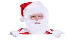 Космос экземпляра copyspace знамени рождества Санта Клауса Стоковое Фото