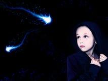 космос девушки Стоковые Фото