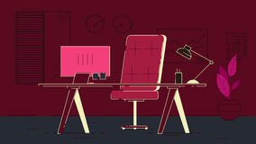 Космос Coworking офиса бесплатная иллюстрация