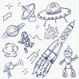 космос doodles Стоковое Изображение