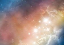 космос nebula предпосылки Стоковое Изображение RF