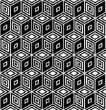 косоугольники картины конструкции искусства op безшовные Стоковые Изображения RF