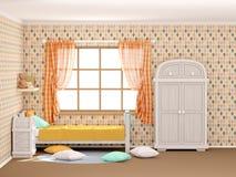 Косоугольники комнаты ` s детей плоские Стоковые Фото