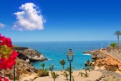 Коста Adeje Playa Paraiso пляжа в Тенерифе стоковые изображения rf