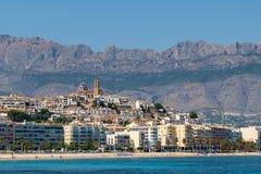 Коста blanca квартиры altea самонаводит среднеземноморская Испания стоковые изображения rf