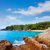 Коста Brava Lloret de mar пляжа Cala Treumal Стоковые Изображения RF