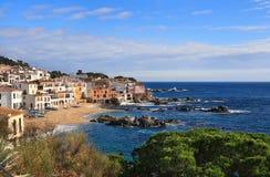 Коста de palafrugell Испания calella brava Стоковые Изображения RF
