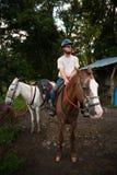 Коста horseback укомплектовывает личным составом rica Стоковое фото RF