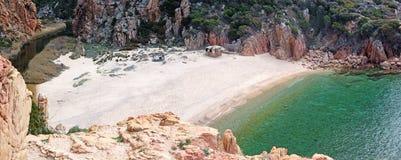 Коста Paradiso - пляж LI Cossi (Сардиния - остров) Стоковое фото RF
