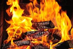 Костер, лагерный костер, огонь Стоковое Изображение RF