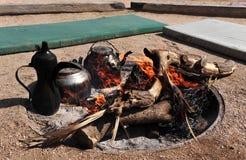 Костер бедуина стоковые фотографии rf