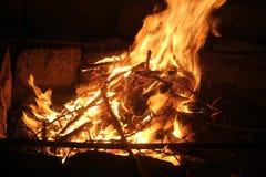 Костер вечера Стоковая Фотография RF