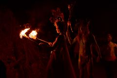 Костер фестиваля огня Beltane Стоковое Фото