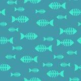 Косточка рыб, безшовная картина Стоковые Изображения
