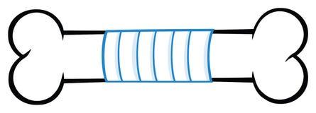 Косточка с линией дизайном повязки медицины чертежа мультфильма стоковая фотография