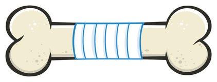 Косточка с линией дизайном повязки медицины чертежа мультфильма стоковое изображение
