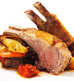 косточка dishes горячее мясо овечки Стоковое Изображение
