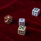 Косточки игры на таблице Стоковая Фотография RF
